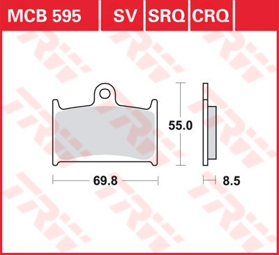 TRW SRQ remblokken MCB595SRQ