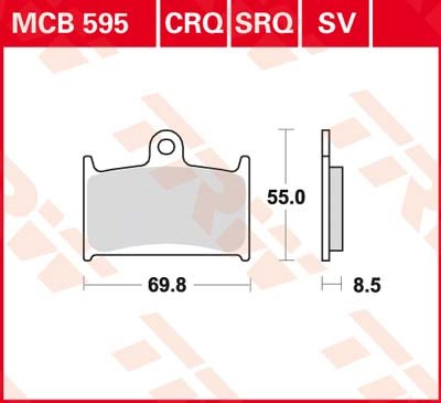 TRW SV/SH Remblokken MCB595SV