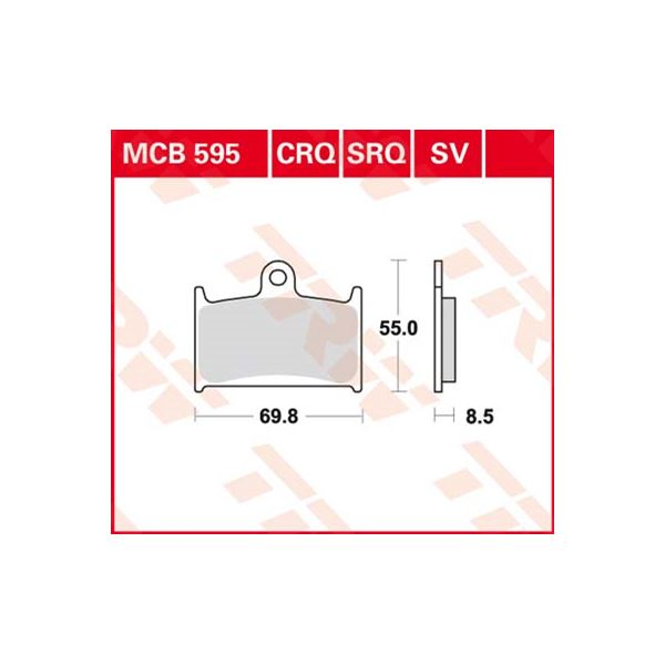 TRW Plaquettes de frein SV/SH MCB595SV