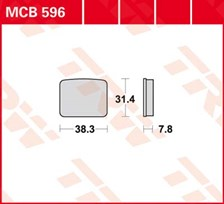 TRW Plaquettes de frein organique MCB596