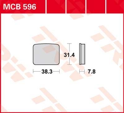 TRW Standaard remblokken MCB596