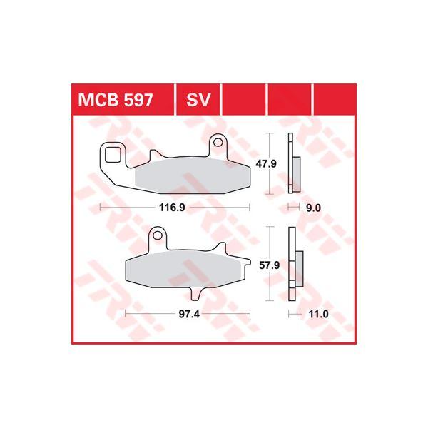 TRW SV/SH Remblokken MCB597SV