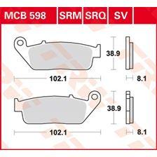 TRW Plaquettes de frein organique MCB598