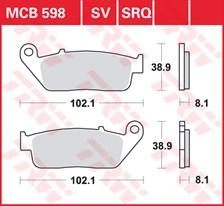 TRW Plaquettes de frein SRQ  MCB598SRQ