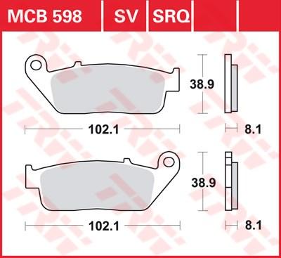 TRW SRQ remblokken MCB598SRQ