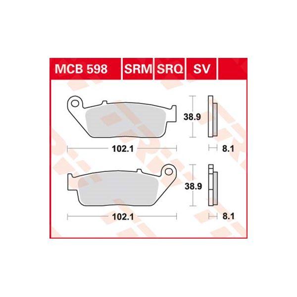 TRW SV/SH Remblokken MCB598SV