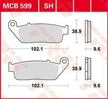 TRW Plaquettes de frein organique MCB599