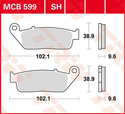 TRW Standaard remblokken MCB599