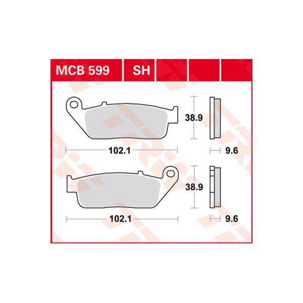 TRW SV/SH Remblokken MCB599SH