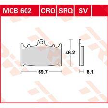 TRW Plaquettes de frein organique MCB602