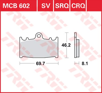 TRW CRQ remblokken MCB602CRQ