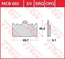 TRW Plaquettes de frein SRQ  MCB602SRQ