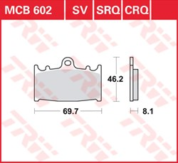 TRW remblokken racing quality