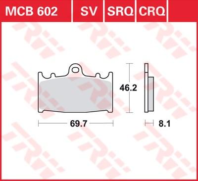 TRW SRQ remblokken MCB602SRQ