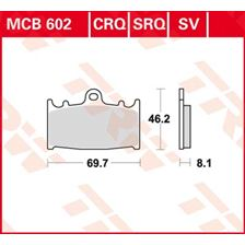 TRW Plaquettes de frein SV/SH MCB602SV