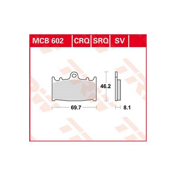 TRW SV/SH Remblokken MCB602SV
