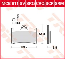 TRW Plaquettes de frein organique MCB611