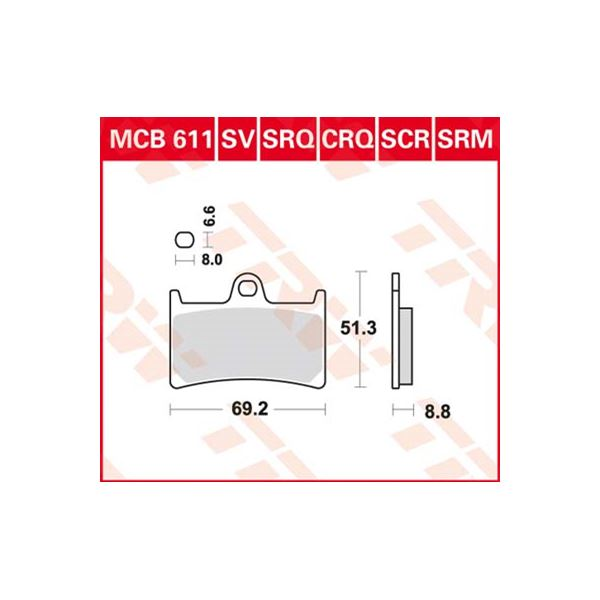 TRW Standaard remblokken MCB611