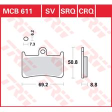 TRW Plaquettes de frein CRQ MCB611CRQ