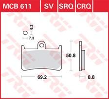 TRW Plaquettes de frein SRQ  MCB611SRQ