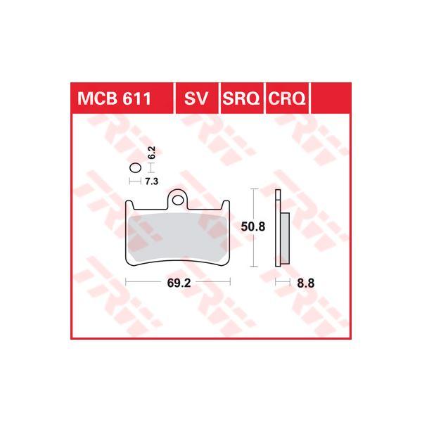 TRW SRQ remblokken MCB611SRQ