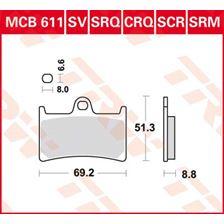 TRW Plaquettes de frein SV/SH MCB611SV