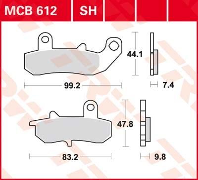 TRW SV/SH Remblokken MCB612SH