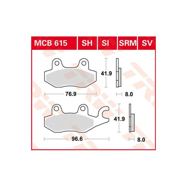 TRW SV/SH Remblokken MCB615SH