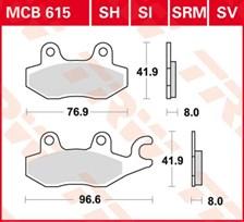 TRW Plaquettes de frein métal fritté SI MCB615SI