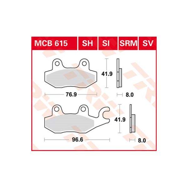 TRW SI Remblokken sinter metaal MCB615SI