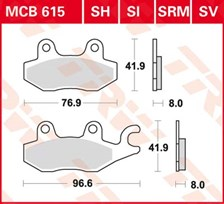 TRW Plaquettes de frein SV/SH MCB615SV