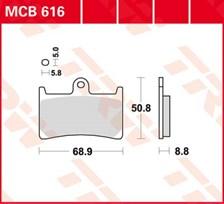 TRW Plaquettes de frein organique MCB616