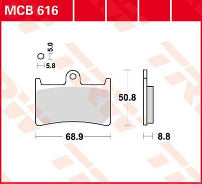 TRW Standaard remblokken MCB616