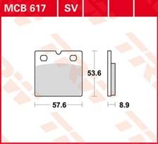 TRW Plaquettes de frein organique MCB617