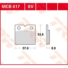 TRW Standaard remblokken MCB617