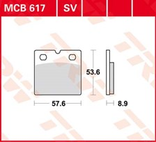 TRW Plaquettes de frein SV/SH MCB617SV
