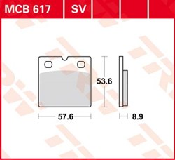 TRW SV/SH Remblokken