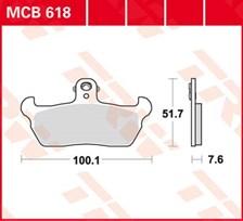 TRW Plaquettes de frein organique MCB618
