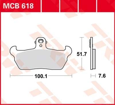TRW Standaard remblokken MCB618