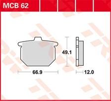 TRW Plaquettes de frein organique MCB62