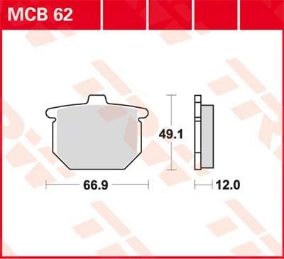 TRW Standaard remblokken MCB62