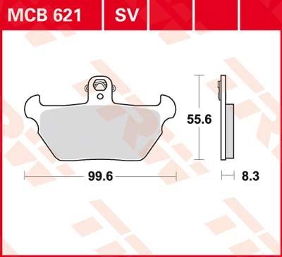 TRW Standaard remblokken MCB621