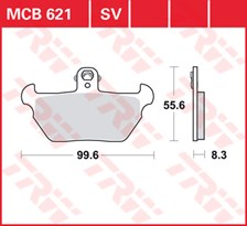 TRW Plaquettes de frein SV/SH MCB621SV