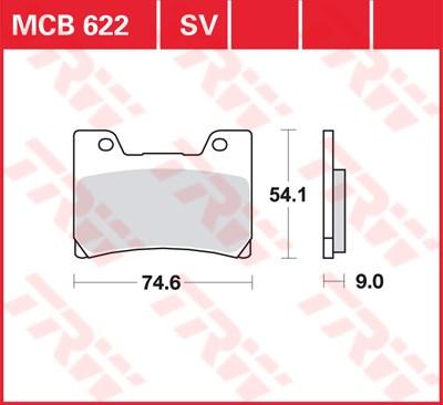 TRW Standaard remblokken MCB622
