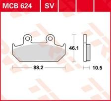 TRW Plaquettes de frein organique MCB624