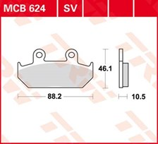 TRW Plaquettes de frein SV/SH MCB624SV