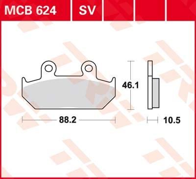 TRW SV/SH Remblokken MCB624SV