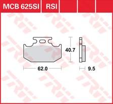 TRW Plaquettes de frein RSI MCB625RSI