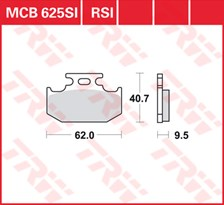 TRW Plaquettes de frein métal fritté SI MCB625SI
