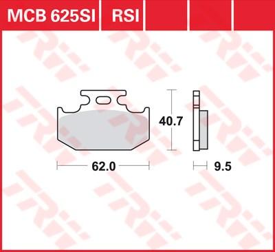 TRW SI Remblokken sinter metaal MCB625SI